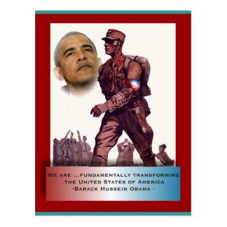 Fundamentally Transforming America Postcard