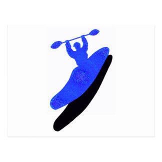 fundamentos del azul del kajak postales