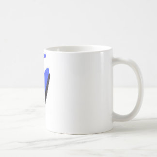 fundamentos del azul del kajak taza básica blanca