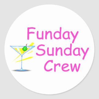 Funday Sunday Crew Classic Round Sticker