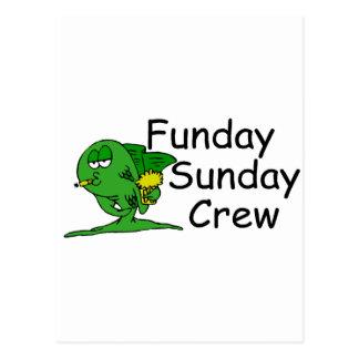 Funday Sunday Crew Fish Postcard