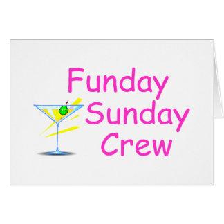 Funday Sunday Crew Pink Card