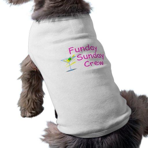 Funday Sunday Crew Pink Pet T Shirt