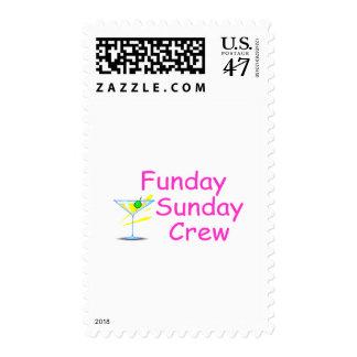 Funday Sunday Crew Pink Postage