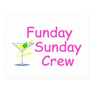 Funday Sunday Crew Pink Postcard