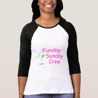 Funday Sunday Crew Pink T Shirts