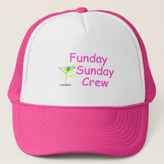 Funday Sunday Crew Pink Trucker Hat