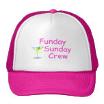 Funday Sunday Crew Pink Trucker Hat
