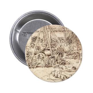 Fundición del cañón de Leonardo DA Vinci- Pins