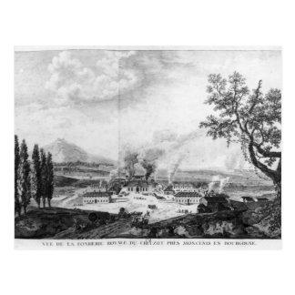 Fundición real en Le Creusot en 1787 Tarjeta Postal