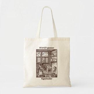 Fundidor de tipos de imprenta bolsa de mano