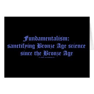 FundieBronzeAgeScience Tarjeta De Felicitación