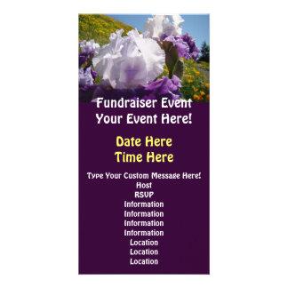 Fundraiser Events Custom Invitations Iris Flowers Photo Cards