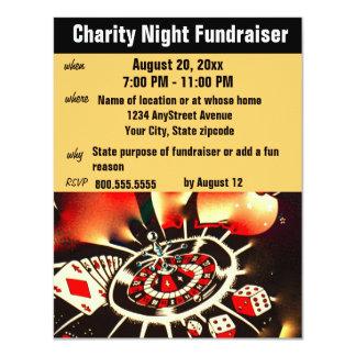 Fundraising Event Casino Theme 4.25x5.5 Paper Invitation Card