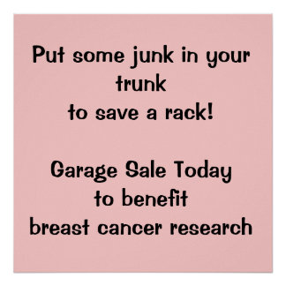 Fundraising Garage Sale Poster