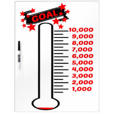 Fundraising Goal Thermometer 10k Goal Dry-erase Board at Zazzle