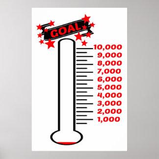 Fundraising Goal Thermometer 10K Goal Poster
