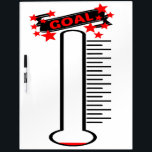 "Fundraising Goal Thermometer BLANK Goal Dry-Erase Board<br><div class=""desc"">A fun way to keep track of your own fundraising goals is with this dry erase board,  easy to use and motivating to watch as you grow closer to your fundraising goal!</div>"