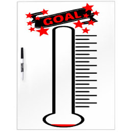 Fundraising Goal Thermometer BLANK Goal Dry-Erase Board
