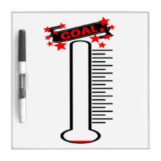 Fundraising Goal Thermometer Blank Goal Dry-erase Board at Zazzle