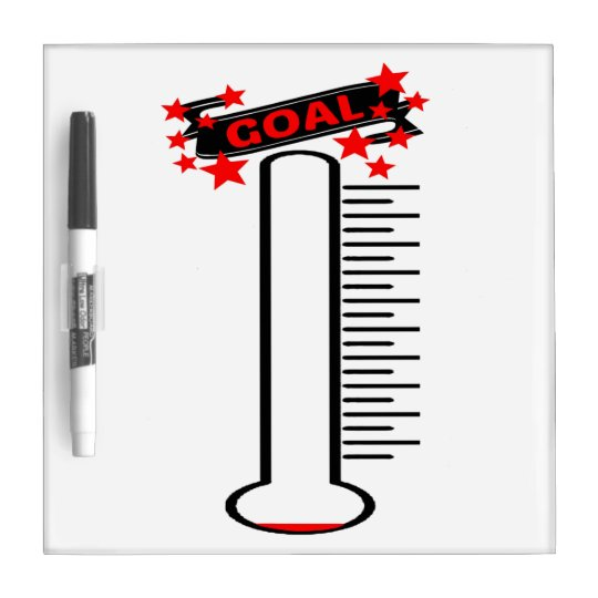 An Own Goal And Glaring Misses: Fundraising Goal Thermometer BLANK Goal Dry-Erase Board