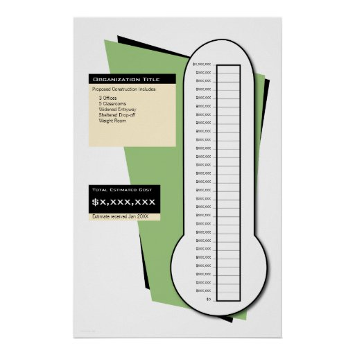 fundraising goal thermometer template quotes