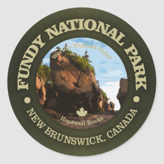 Fundy National Park Classic Round Sticker