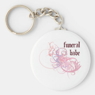 Funeral Babe Key Chain