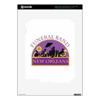 Funeral Band Decal For iPad 3