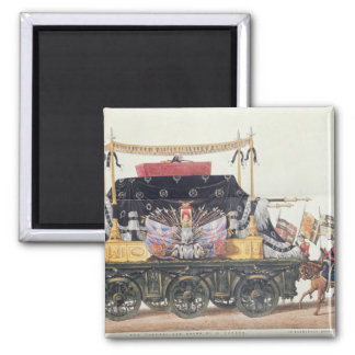 Funeral Car of the Duke of Wellington, 1853 2 Inch Square Magnet