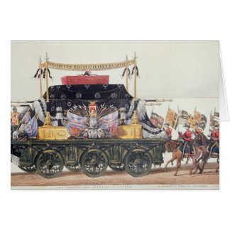 Funeral Car of the Duke of Wellington, 1853 Card