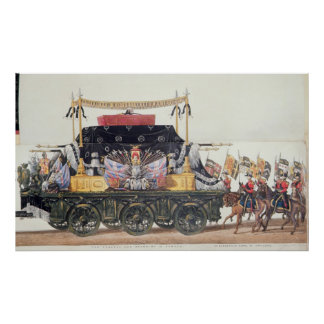 Funeral Car of the Duke of Wellington, 1853 Poster