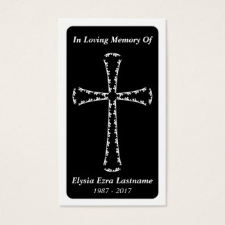 funeral card . elegant cross
