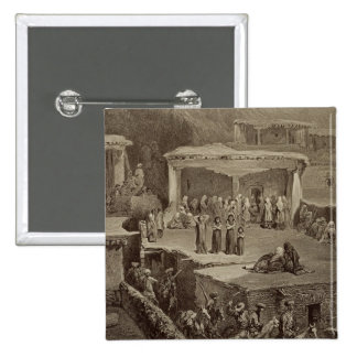 Funeral Ceremony in the Ruins at Akhaltchi, Dagest Pinback Button