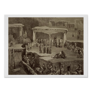 Funeral Ceremony in the Ruins at Akhaltchi, Dagest Poster