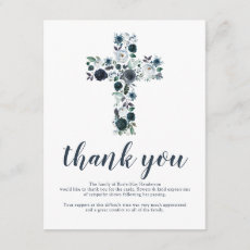 Funeral Cross Thank You Note | Behreavement