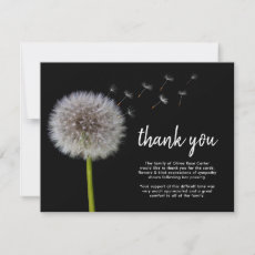 Funeral Dandelion Thank You | Bereavement Wishes