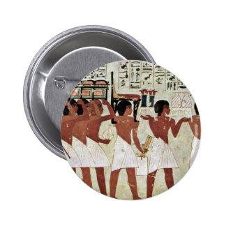 Funeral Details By Maler Der Grabkammer Des Ramose Pinback Buttons