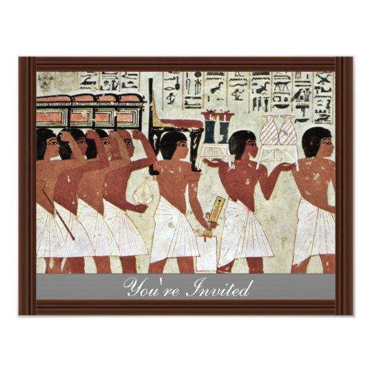 Funeral Details By Maler Der Grabkammer Des Ramose Card