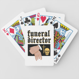Funeral Director Bicycle Playing Cards