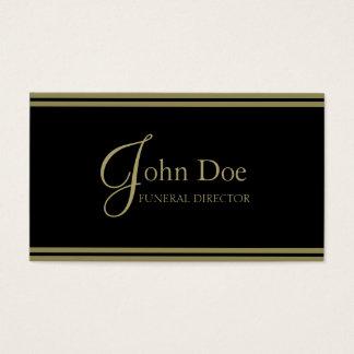 Funeral Director Black/Gold Stripes Business Card