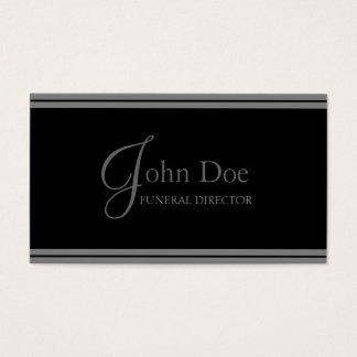 Funeral Director Black/Grey Stripes Business Card