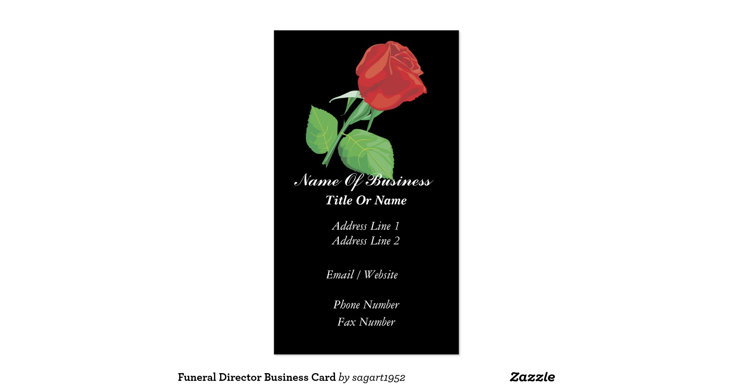 Funeral Director Business Card R4f7cfb8e59aa483a8d00b11bc22a3510 I579g 8byvr