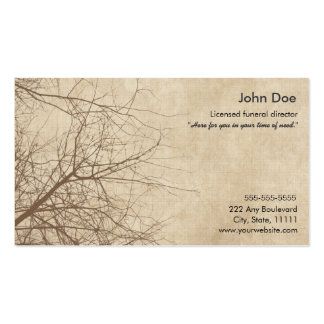 Funeral Director Business Cards Templates Zazzle