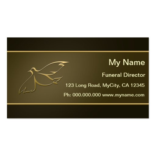 Funeral Director Business Cards
