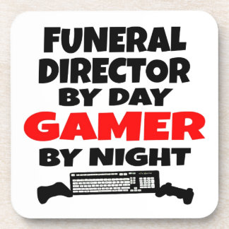 Funeral Director Gamer Beverage Coaster