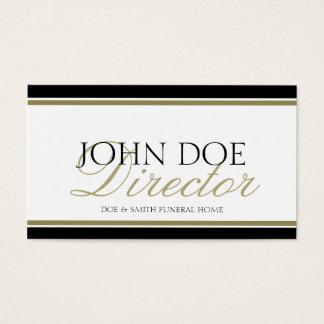 Funeral Director Gold Script Business Card