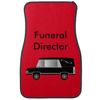 Funeral Director Hearse Car Mats Red