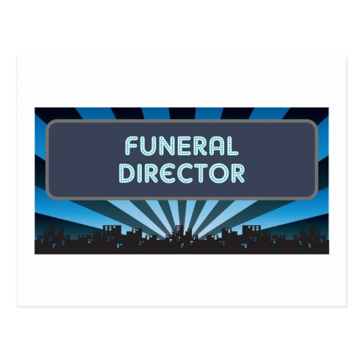 Funeral Director Marquee Postcard