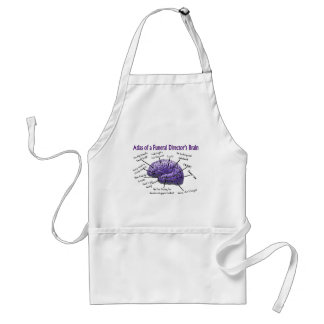 Funeral Director/Mortician Funny Brain Design Adult Apron